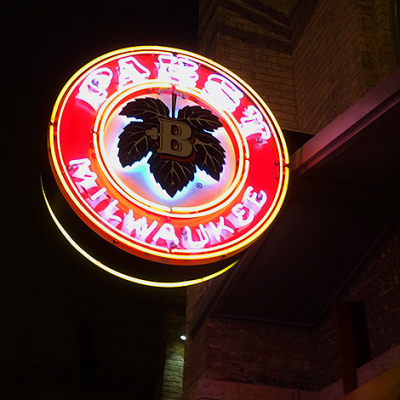 The New Pabst Brewing Company in Milwaukee WI sign 8541