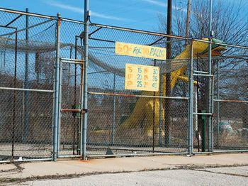 MKE Oddball Milwaukee: Stagasaurus in a Batting Cage 3883