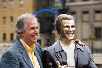 Fonzie Statue 10th Anniversary 7674